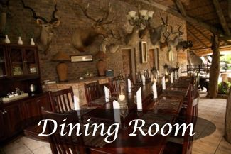 Link to Cruiser Safaris Dining Room accommodations.