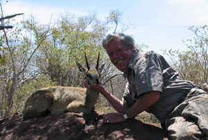 Cruiser Bob with his gold medal Klipspringer taken at Cruiser Safaris.