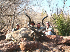 Bob and Pieter with one of our hunting clients