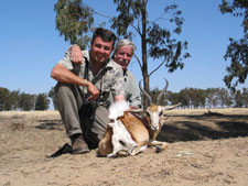 "Springbok with Pieter and ""Cruiser Bob"""