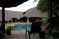 Safari hunting lodge accommodations