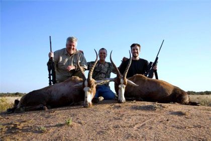 Wesley, Steve with their Blesbok