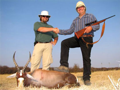Colter and Ray with his Blesbok
