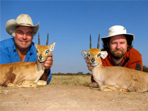 Ray and Colter with their Steenboks