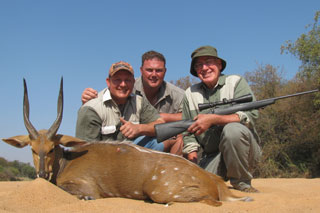 Hunting client John with his Bushbuck