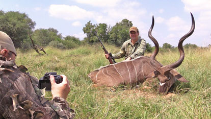 Trophy Kudu and Cruiser Safaris hunting client.
