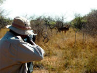 Picture yourself hunting in South Africa.